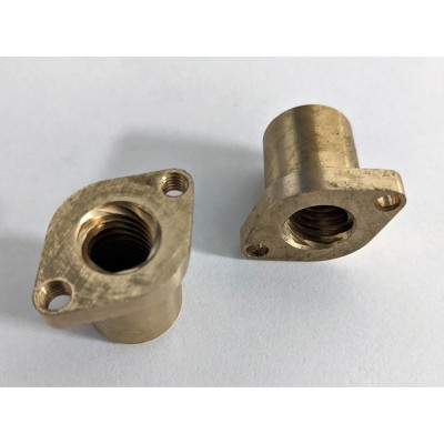 T12-12mm brass nuts, 2pcs